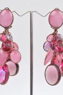 Boucles d'oreilles pastilles roses