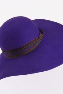 Chapeau capeline velours