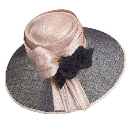 Chapeau capeline camelia