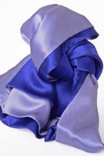 Echarpe bleue bicolore